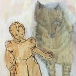 2016,Wolfskind I,Acryl auf Leinwand 30x30 slider